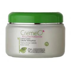 Crema Corpo Cellulite Termoattiva Cremeo', indicata per contrastare gli accumuli adiposi di gambe, glutei e addome. EAN 8028909030036
