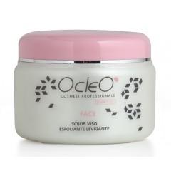 Scrub Viso Ocleo', rimuove efficacemente le impurità con delicatezza e idrata in profondità ml 500. EAN 8028909040523