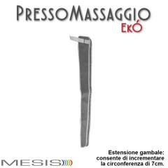 Estensione gambale PressoMassaggio EkO', vengono fornite in coppia, consentono di aumentare la circonferenza dei gambali di 7 cm