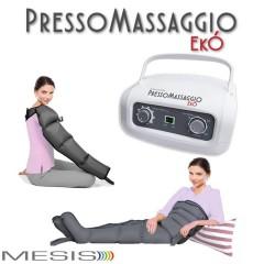 Pressoterapia PressoMassaggio EkÓ con 2 gambali e Kit Slim Body, fascia addome-glutei e 1 bracciale per il linfodrenaggio completo a casa tua-EAN 0638097965386