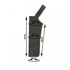 Bracciale a 4 camere SOVREX PressoMassaggio Mesis PLUS+, viene fornito singolo e utilizzato alternatamente sulle braccia. Necessita del connettore singolo specifico. EAN 0638097725775