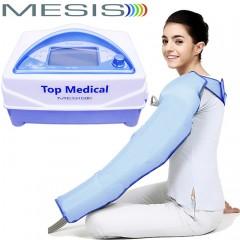 Pressoterapia medicale Mesis Top Medical Premium con 1 bracciale CPS Mesis a 4 camere parzialmente sovrapposte, con 3 programmi per il linfodrenaggio del braccio. EAN 0634065303389