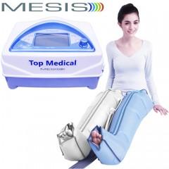 Pressoterapia medicale Mesis Top Medical Premium con 1 gambale CPS Mesis a 4 camere parzialmente sovrapposte, con 3 programmi per il linfodrenaggio della gamba. EAN 0634065303372