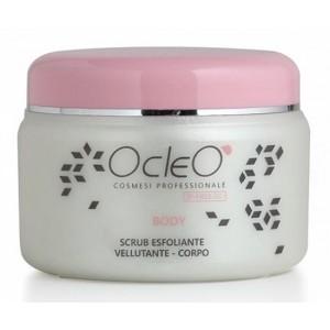 Scrub Esfoliante e Vellutante Corpo Ocleo' ml 500 favorisce il turnover cellulare e stimola la microcircolazione superficiale. Assicura una perfetta esfoliazione in maniera delicata e non aggressiva. EAN 8028909040516