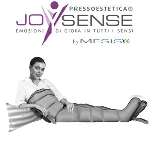 Pressoterapia estetica PressoEstetica JoySense 2.0, uso dei gambali con la fascia addominale glutei