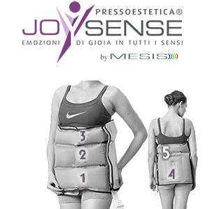 Pressoterapia estetica PressoEstetica JoySense 2.0, fascia addominale glutei