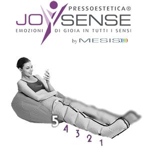Pressoterapia estetica PressoEstetica JoySense 2.0 con 2 gambali a 5 camere