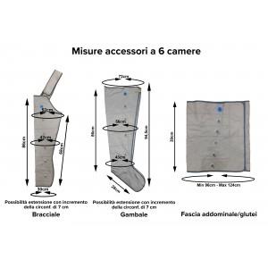 Misure degli accessori a 6 camere