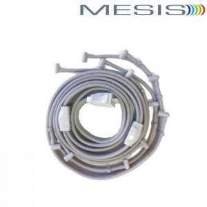 Connettore triplo per usare simultaneamente i gambali e la fascia addome-glutei a 4 camere della pressoterapia Xpress Beauty Mesis