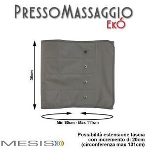 PressoMassaggio® MESIS® EkÓ le misure della fascia addome-glutei