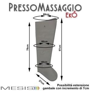 PressoMassaggio® MESIS® EkÓ le misure di ciascun gambale