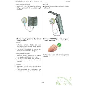Istruzioni su come collegare gli applicatori fascia addome-glutei e bracciale al compressore Joysense Mesis