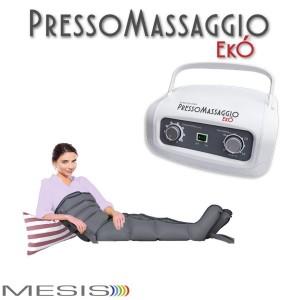 Pressoterapia PressoMassaggio EkÓ con 2 gambali e Kit Slim Body, fascia addome-glutei, per il linfodrenaggio  domestico-EAN 0638097413313
