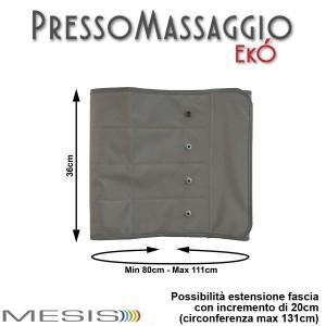 PressoMassaggio® MESIS® EkÓ le misure della fascia addome glutei. EAN 0638097165885