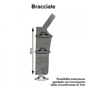 Misure del bracciale a 4 camere della pressoterapia Xpress Beauty Clinic