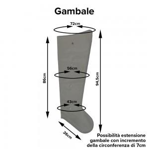 Misure dei gambali a 4 camere