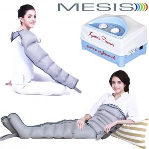Pressoterapia Mesis Xpress Beauty Six con 2 gambali, 1 fascia addome-glutei e 1 bracciale a 6 camere per la bellezza completa. EAN 0634065303266